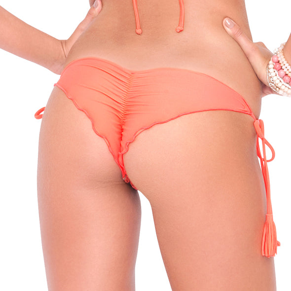 FUEGO DIVINO - Wavey Ruched Back Brazilian Tie Side Bottom