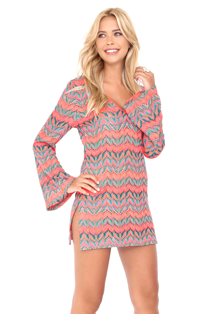 FUEGO DIVINO - Plunge Dress • Multicolor