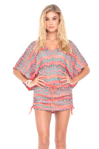 FUEGO DIVINO - Cabana V Neck Dress • Multicolor