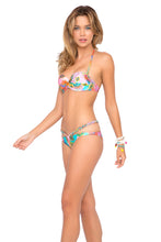 BOHO CHIC - Underwire Push Up Bandeau Top & Sandy Buns Braided Moderate Coverage Bottom • Multicolor