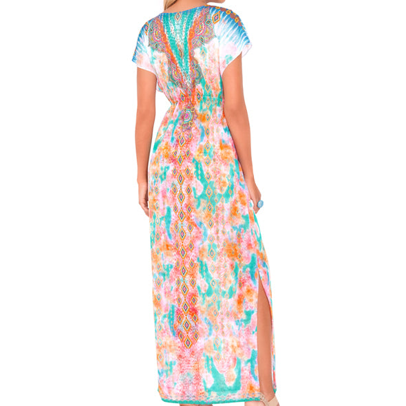 BOHO CHIC - Cap Sleeve Long Caftan