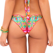SUNKISSED LAUGHTER - Wavey Ruched Back Brazilian Tie Side Bottom