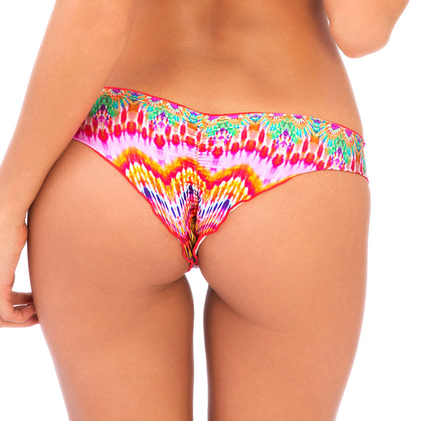 SUNKISSED LAUGHTER - Wavey Ruched Back Brazilian Bottom