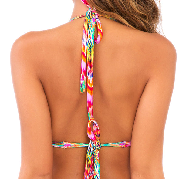 SUNKISSED LAUGHTER - Triangle Halter Top