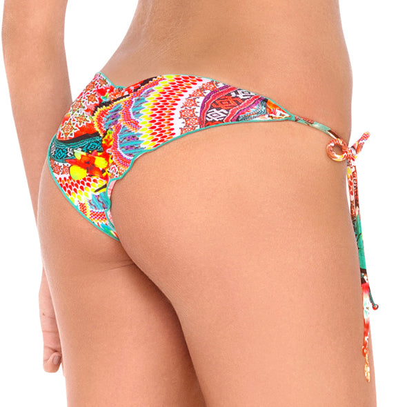 CHASING WATERFALLS - Wavey Ruched Back Brazilian Tie Side Bottom