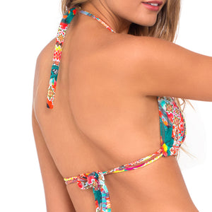 CHASING WATERFALLS - Triangle Halter Top