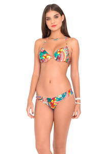 CHASING WATERFALLS - Seamless Plunge Underwire Push Up Top & Buns Out Bottom • Multicolor