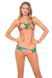 CHASING WATERFALLS - Criss Cross Sporty Bra & Moderate Bottom • Multicolor (874074734636)
