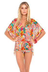 CHASING WATERFALLS - Cabana V Neck Dress • Multicolor