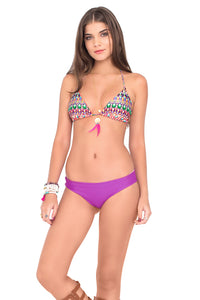 LIL GEM - Triangle Top & Reversible Seamless Full Bottom • Purple Ocean