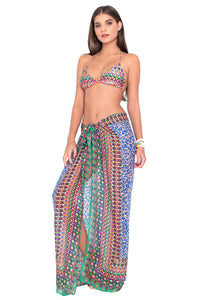 LIL GEM - Triangle Top & Pareo • Multicolor