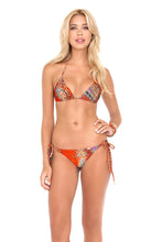 WANDERLUST - Triangle Top & Wavey Ruched Back Brazilian Tie Side Bottom • Multicolor