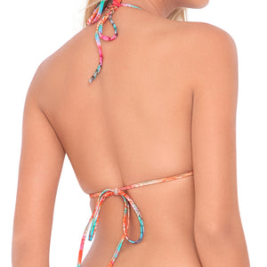 LIBERTAD TORNASOL - Crossed Multi Strings Halter Top