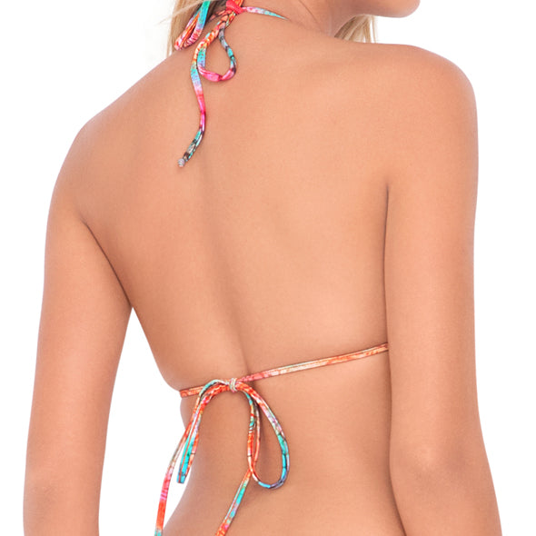 LIBERTAD TORNASOL - Crossed Multi Strings Halter Top (843726815276)
