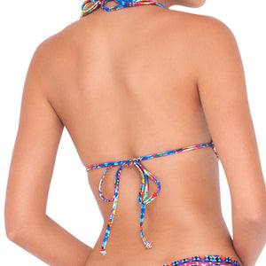 TRIBAL BEACH - Molded Push Up Bandeau Halter Top (843739496492)