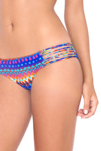 TRIBAL BEACH - Criss Cross Back Bra Top & Multi Strings Full Bottom • Multicolor