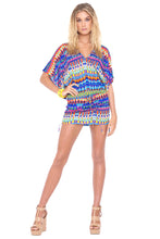 TRIBAL BEACH - Cabana V Neck Dress • Multicolor
