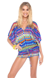 TRIBAL BEACH - Cabana V Neck Dress • Multicolor (874180313132)