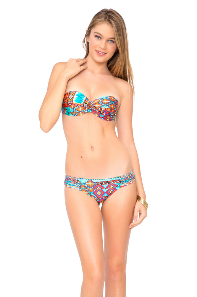 WILD & FREE - Underwire Push Up Bandeau Top & Full Bottom • Multicolor