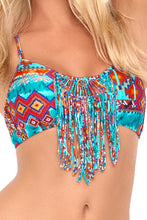 WILD & FREE - Weave Fringed Sporty Bra Top & Weave Fringed Skimpy Bottom • Multicolor