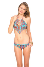 WILD & FREE - Weave Fringed Halter Top & Full Bottom • Multicolor