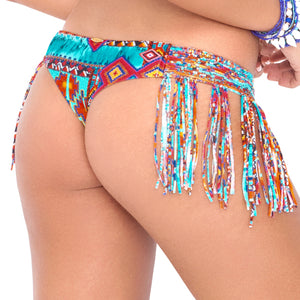 WILD & FREE - Weave Fringed Skimpy Bottom