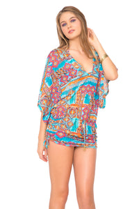 WILD & FREE - Cabana V Neck Dress • Multicolor