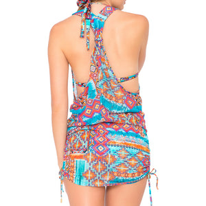WILD & FREE - T Back Mini Dress