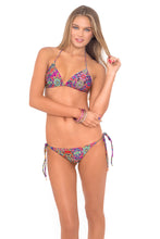 GIPSY SOUL - Triangle Top & Wavey Ruched Back Brazilian Tie Side Bottom • Multicolor