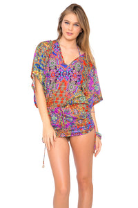 GIPSY SOUL - Cabana V Neck Dress • Multicolor