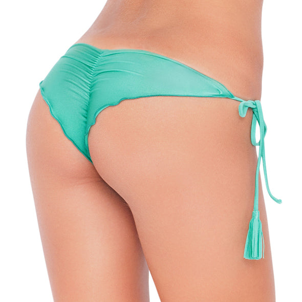 SIETE MARES - Wavey Ruched Back Brazilian Tie Side Bottom