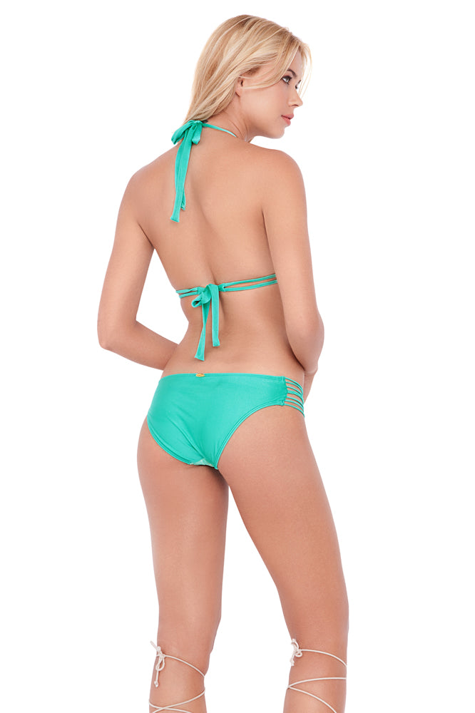 SIETE MARES - Triangle Halter Top & Braided Side Full Bottom • Multicolor (874148200492)