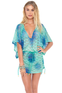 SIETE MARES - Cabana V Neck Dress • Multicolor