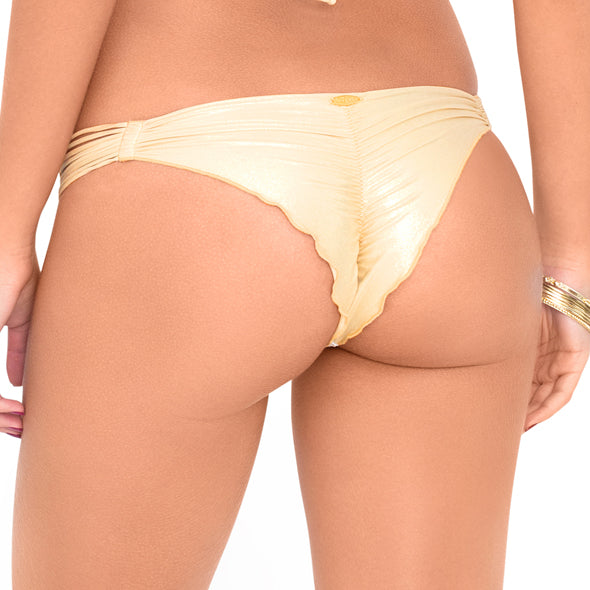 BUENA ONDA - Strappy Brazilian Ruched Back Bottom