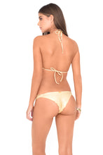 BUENA ONDA - Crochet Illusion Halter Top & Strappy Brazilian Ruched Back Bottom • White