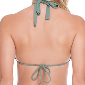 UNSTOPPABLE - Colored Strings Tri Halter Top