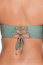 UNSTOPPABLE - Colored Strings Underwire Bandeau Top & Multi Strings Full Bottom • Army