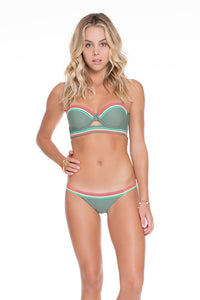 UNSTOPPABLE - Colored Strings Underwire Bandeau Top & Colored Strings Moderate Bottom • Army