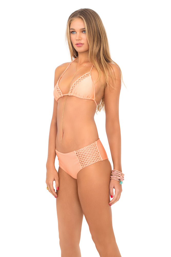LET'S BE MERMAIDS - Triangle Top & Crochet Loops High Waist Bottom • Sea Shell