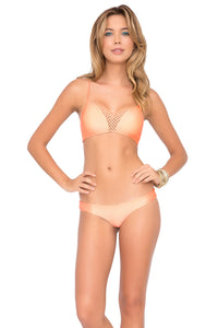 LET'S BE MERMAIDS - Criss Cross Sporty Bra & Buns Out Bottom • Sea Shell (874110877740)