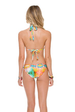 SOL MULTICOLOR - Triangle Halter Top & Full Ruched Back Bottom • Multicolor