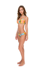 SOL MULTICOLOR - Cross Over Halter Top & Full Bottom • Multicolor