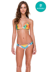 SOL MULTICOLOR - Cross Over Halter Top & Full Bottom • Multicolor (874472898604)