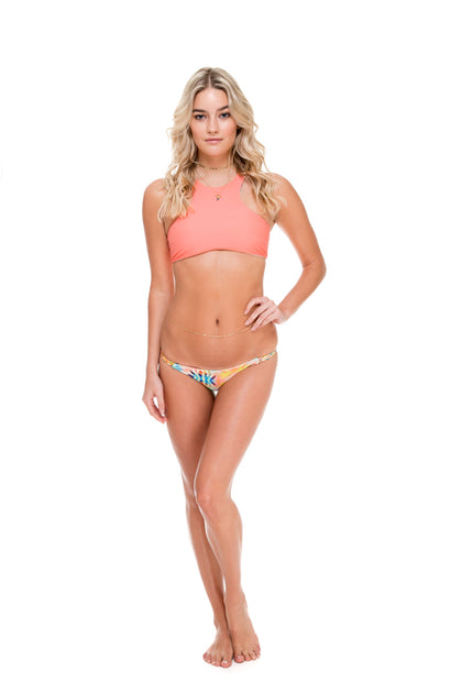 SOL MULTICOLOR - Glam High Neck Top & Double Braided Moderate Bottom • Multicolor