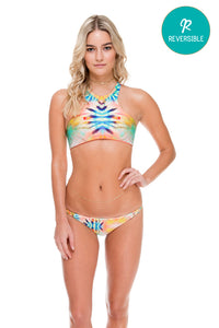 SOL MULTICOLOR - Glam High Neck Top & Double Braided Moderate Bottom • Multicolor (874471882796)