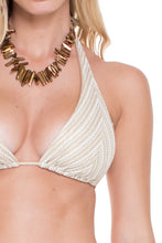 DESERT BABE - Halter Top & Seamless Brazilian Ruched Back Tie Side • White