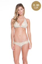 DESERT BABE - Triangle Halter Top & Tab Sides Full Bottom • White