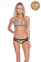 DESERT BABE - Triangle Halter Top & Banded Moderate Bottom • Black