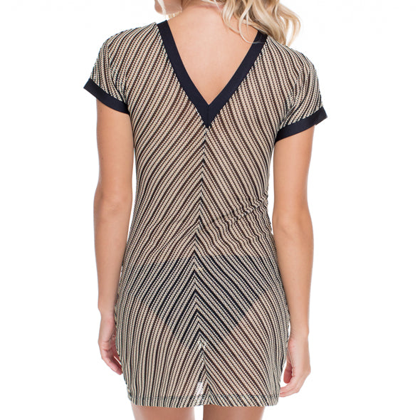 DESERT BABE - Vneck Bodycon Dress