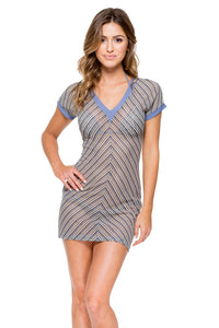 DESERT BABE - Vneck Bodycon Dress • Blue Moon